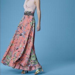 DVF high waisted draped maxi skirt